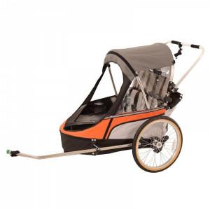 Child-Premium-Double-Bike-Trailer-Orange
